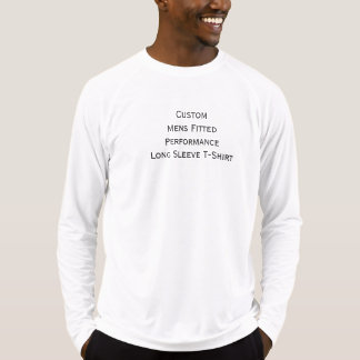 Custom Mens Fitted Performance Long Sleeve T-Shirt