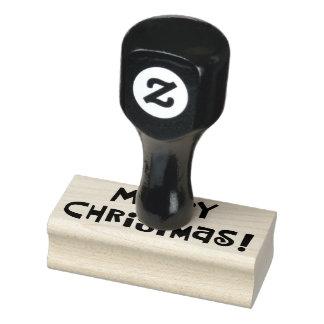 "Custom ""Merry Christmas"" Rubber Stamp"