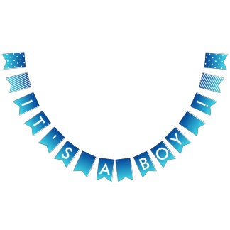 Custom Message Blue Ombre It's A Boy Banner