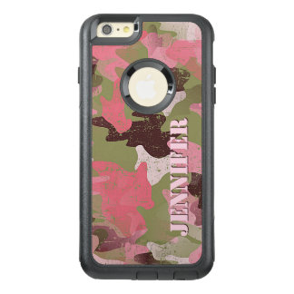 Custom Military Green Pink Camouflage Pattern OtterBox iPhone 6/6s Plus Case