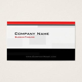 Custom Modern Monogram Black & Red Business Card