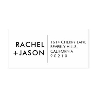 Custom Modern Simple Wedding Return Address Stamp