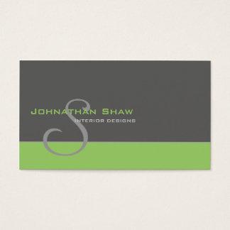 Custom Monogram 1 Business Card