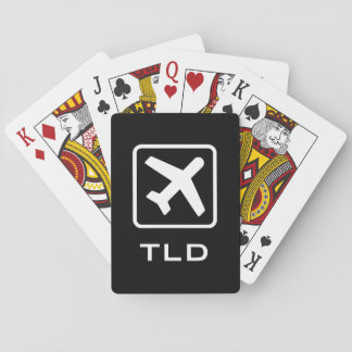 Custom monogram airplane icon playing cards