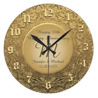 Custom Monogram Anniversary Clock
