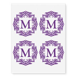 Custom Monogram Elegant Purple Letter M