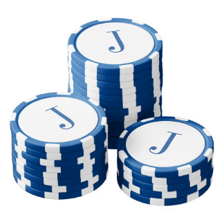Custom Monogram Initials Fathers Day Poker Chips