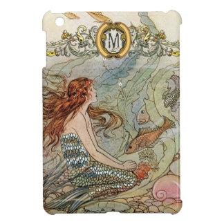 Custom Monogram Under the Sea Vintage Mermaid iPad Mini Covers