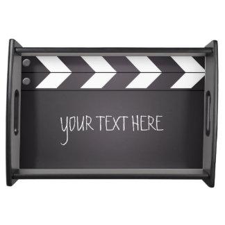 Custom Movie Chalkboard Clapboard Serving Tray