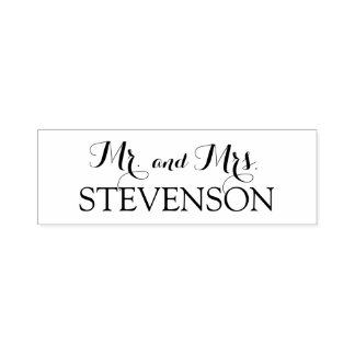 Custom Mr. and Mrs. Wedding Stamper Self-inking Stamp