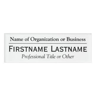 Custom Name Badge - Name of Organization or Church