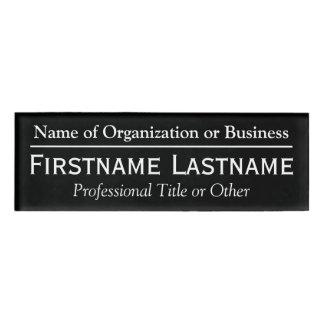 Custom Name Badge - Organization or Church - Black