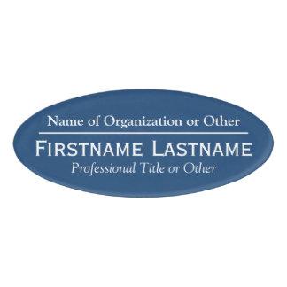 Custom Name Badge - Organization or Church - Blue