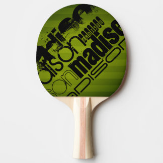 Custom Name, Black and Olive Green Ping Pong Paddle