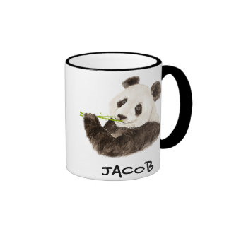 Custom Name Cute Panda  Watercolor Animal Coffee Mug