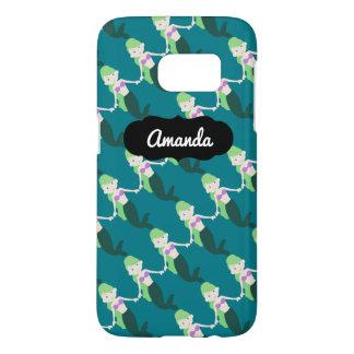 Custom Name Green Mermaid SG7 Case