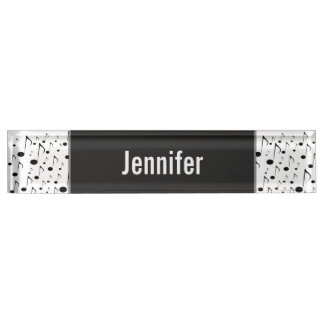 Custom Name + Many Musical Notes Pattern Nameplate