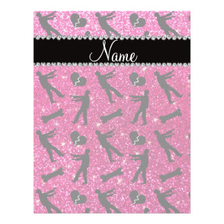 Custom name neon hot pink glitter zombies custom flyer