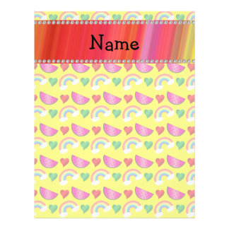 Custom name neon yellow watermelons rainbows heart full color flyer