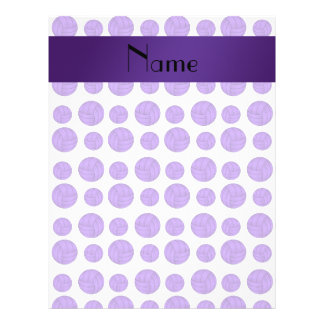Custom name purple volleyball pattern full color flyer
