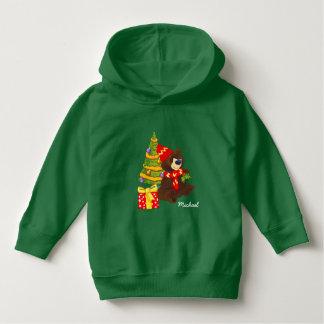 Custom Name Teddy Bear Christmas Toddler Hoodie