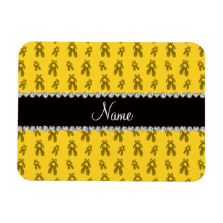 Custom name yellow ballet shoes flexible magnets
