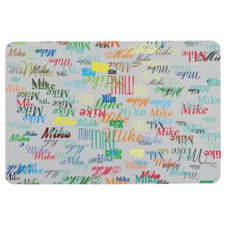 custom names colorful and cool floor mat