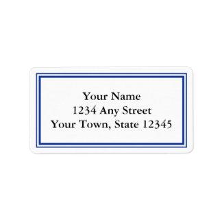 Custom Navy Blue & White Envelope Address Labels Labels
