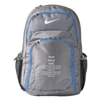 Custom Nike Performance Backpack, Grey/Blue Backpack