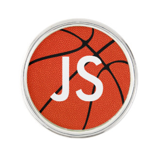 Custom Numbers or Letters Basketball Lapel Pin