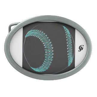 Custom oval belt buckle