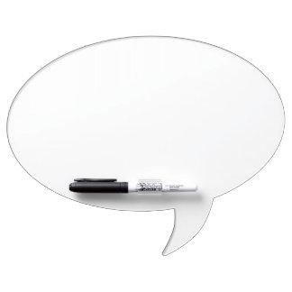 Custom Oval Speech Bubble Dry Erase Board