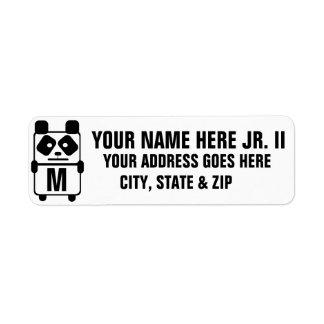 Custom Panda Monogram
