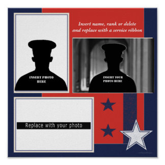 Custom Patriotic Photo Collage Display Poster