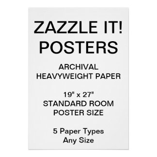 """Custom Personalised 19""""x27"""" Archival Paper Poster"""
