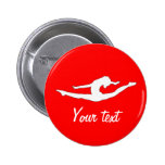 Custom Personalised Buttons Gymanst Dance