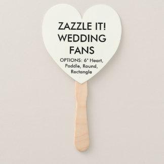 Custom Personalised IVORY HEART WEDDING FANS