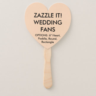 Custom Personalised PEACH HEART WEDDING FANS