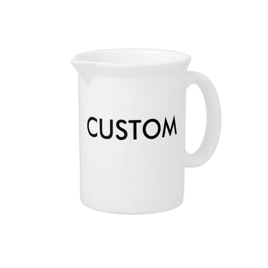 Custom Personalised Pitcher Blank Template