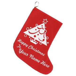 Custom Personalize Big Red Christmas Stocking