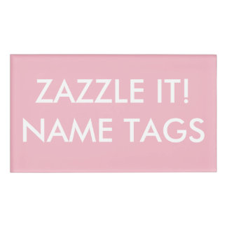 Custom Personalized Large Name Tag Blank Template