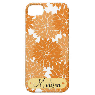 Custom Personalized Name Orange Flower Blossoms iPhone 5 Cover