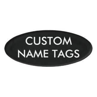 Custom Personalized Oval Name Tag Blank Template
