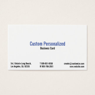 Custom Personalized Professional Business Card
