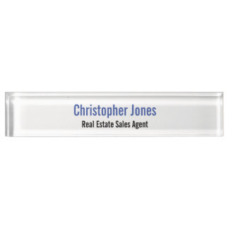 Custom Personalized Professional Desk Name Plate