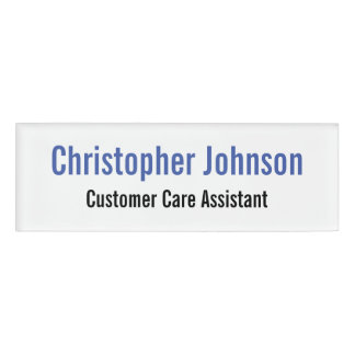 Custom Personalized Professional Simple Magnetic Name Tag