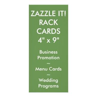 Custom Personalized Rack Card Blank Template