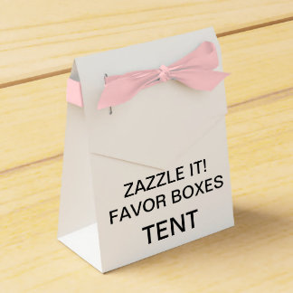 Custom Personalized Tent Favor Boxes Blank (Pink)