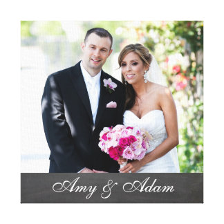 Custom photo and text newly weds | married couple canvas print