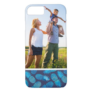 Custom Photo Blue Tie Dye Pineapples iPhone 7 Case